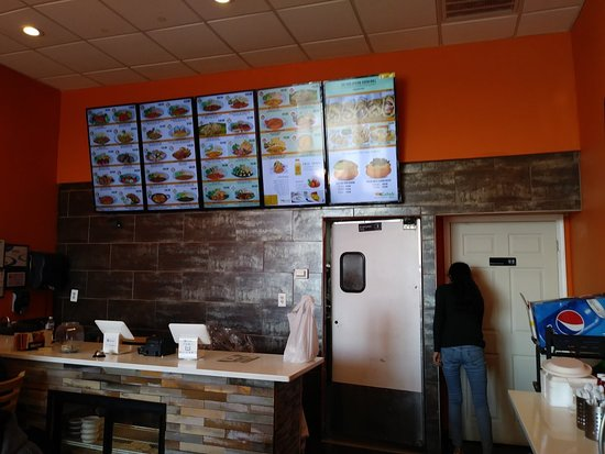 Catonsville, MD: Fast food type ordering. Kind of like in a mall!