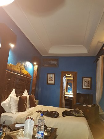 Riad Ayadina: Aishia Room That Was Supposed To Have Mosquito Net Hanging  Over Bed