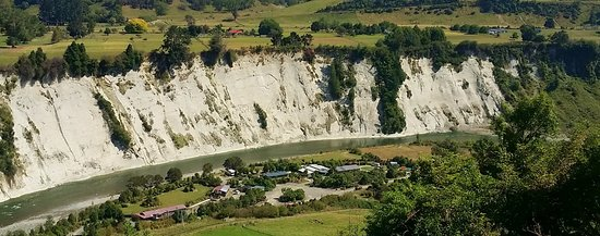 Awastone property from above, only 1km off SH1, New Zealand