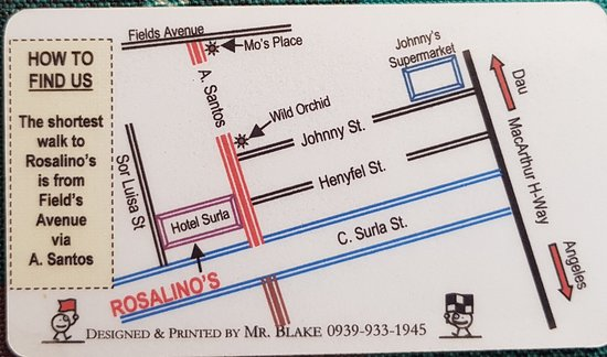 Street view, meals, specials board and map of Rosalino's in ... on filipino dancers in angeles city, lost in asia angeles city, mirrors club angeles city,