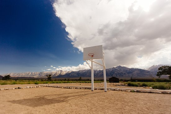 Independence, CA: Nothing more American than basketball. Except the detainees weren't really treated as Americans.
