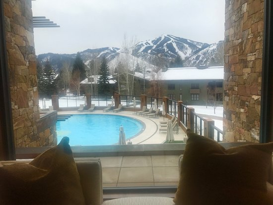 Sun Valley Lodge: View from Spa!