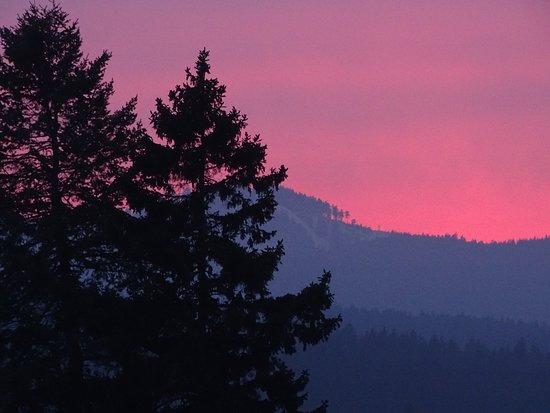 Schierke, Germany: Blick von der Terrasse auf einen wundervollen Sonnenuntergang