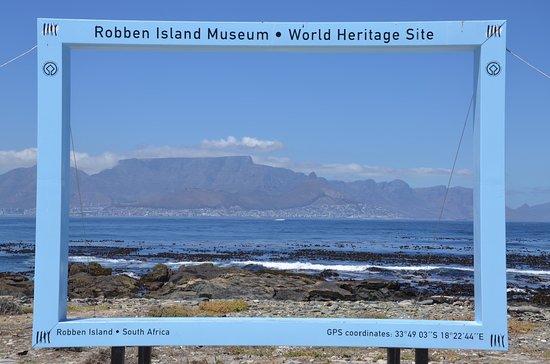 Robben Island: Der Blick zum Tafelberg