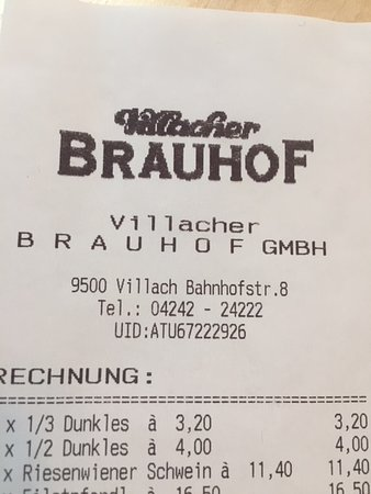 Villacher Brauhof : Indirizzo e telefono