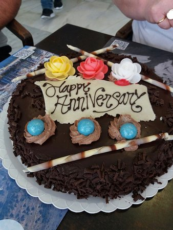 Foapcom Anniversary A Wedding Anniversary Cake Stock Photo By