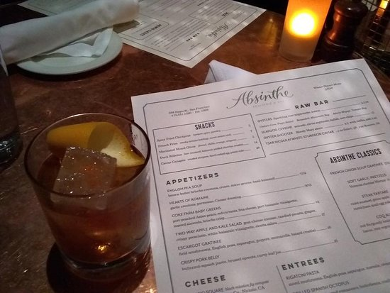 Absinthe Brasserie & Bar: Old Fashion. Bottoms Up