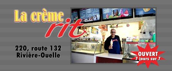 Riviere-Ouelle, كندا: Bienvenue à Rivière-Ouelle: Capitale de la crème molle. 