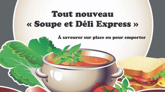 Riviere-Ouelle, كندا: Soupe chaude tous les midis, du lundi au vendredi