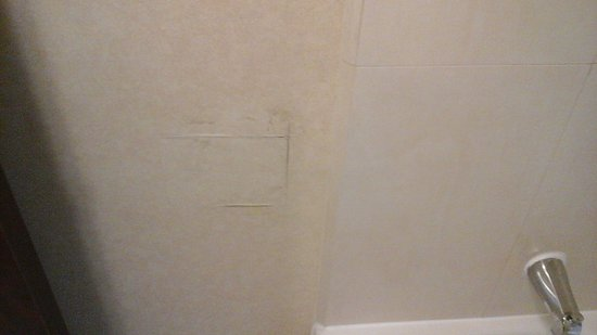 Embassy Suites by Hilton Lubbock: patched spot in bathroom- room 345
