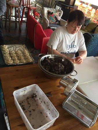 Nanuchka: Mushroom filled pastry