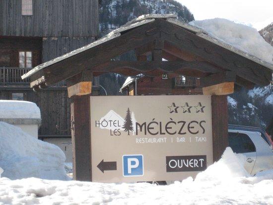 Les Hauderes, Schweiz: parking lot