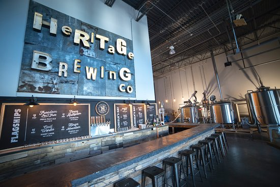 Manassas, Virginie : The new Heritage Brewing co. taproom.