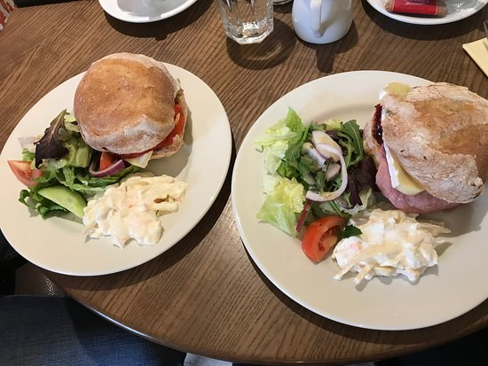 Upstairs Cafe: Fabulous oven baked ciabattas