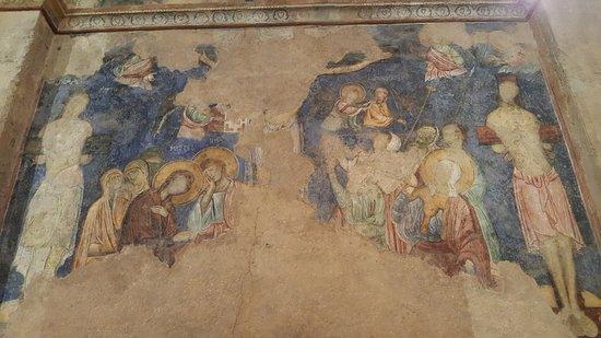 Abu Ghosh, Израиль: Fresco en una de las paredes de la Abadia