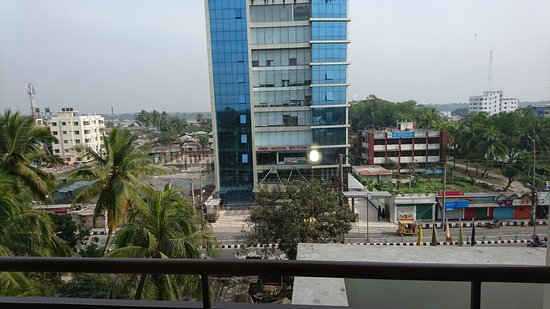 Barisal City, Bangladesch: Aussicht vom Zimmer.