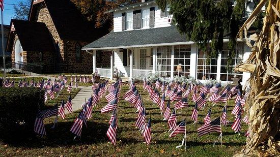 Eatontown, NJ: Veterans Day Flags
