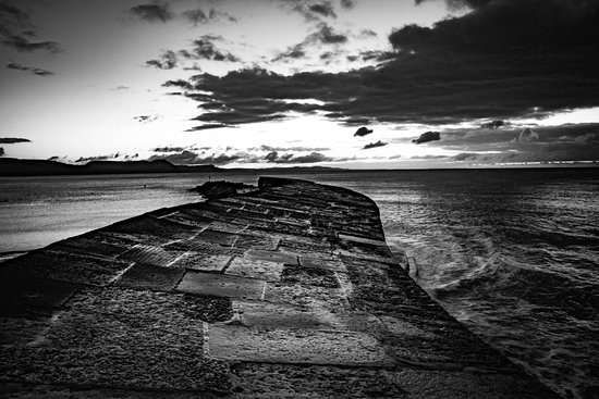 The Cobb: Lyme Regis Cobb - waiting for sunrise