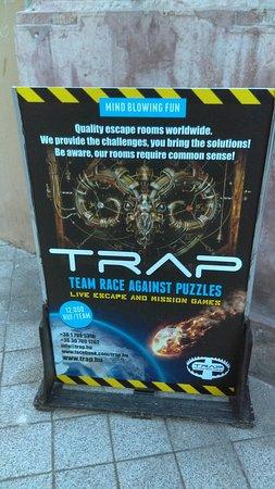 TRAP Team Race Against Puzzles: Trap escape game