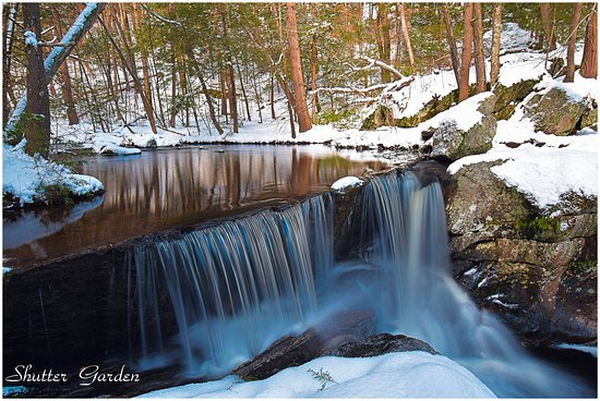Granby, CT: Fifth waterfall. My favorite fall when lots of water is flowing