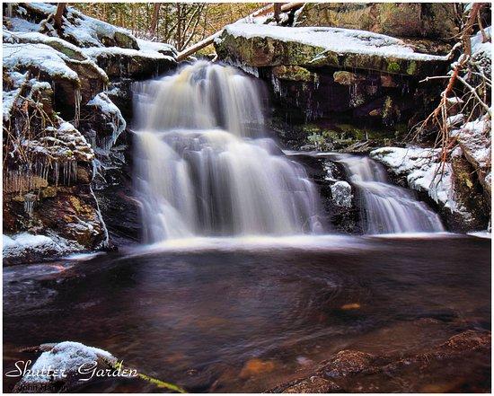 Granby, Κονέκτικατ: Sixth and last waterfall close up