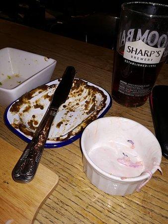 The White Hart: Coleslaw Ramekin for scale. But it was soooooo tasty.