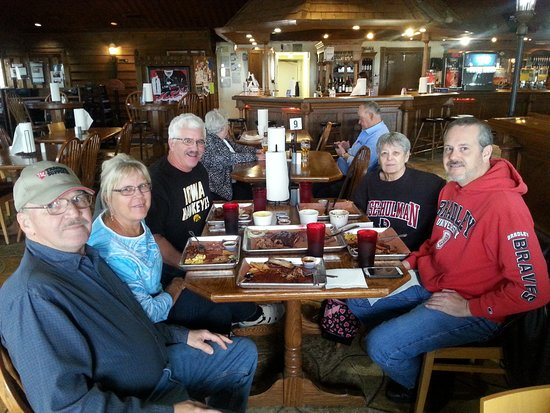 """New Baden, IL: Here we enjoyed the """"Barnyard"""" which is a kind of a sampler's platter and feeds 4-5, hungry adul"""