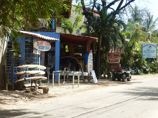 """KayaSol Surf Hotel: the nice surf shop just out the """"back door"""" - for rentals and/or lessons"""