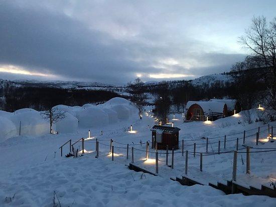 Une chambre bild fr n kirkenes snow hotel kirkenes for Kirkenes snow hotel gamme cabins