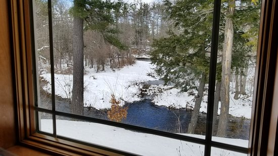 New Boston, New Hampshire: View from our table