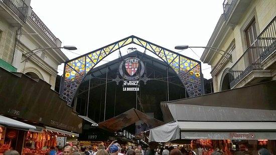 Barcelona, Spain: Entrata Mercato della Boqueria