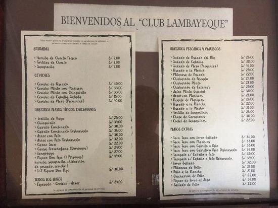 Foto De Club Lambayeque Restaurant Lima Cancha Cabrito
