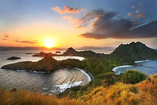 Labuan Bajo, Indonesia: Golden Sunset on Padar Island, Komodo National Park