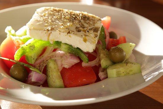 In Delphi: Traditional Greek Salad