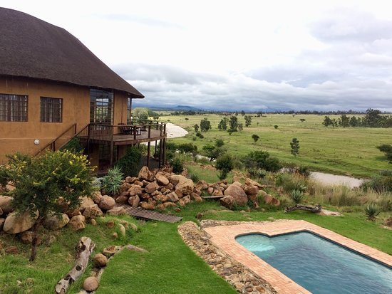 Rorke's Drift, Afrika Selatan: The view from my room.