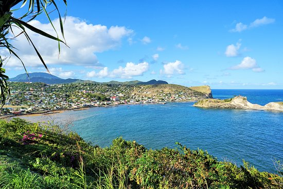 Choiseul, Saint Lucia: A lookout stop en route from airport to hotel