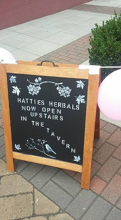 Hatties Herbals is located upstairs from Hotel Tavern.Soap, Sage, Candles, Art!!