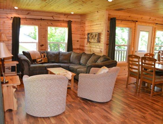 Alexandria, MN: Cabin 8 livingroom