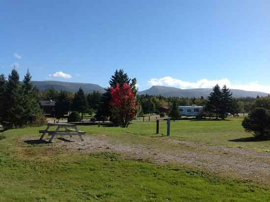 Doyles, Canada: This is just one of the Beautiful Views from our campsite! The Long Range Mountains in the backg
