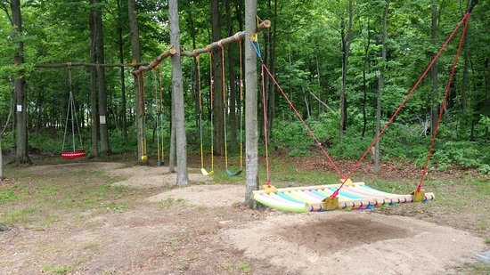 Lucky Lake Campground: We have swings for all sizes.