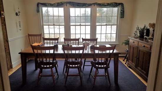 Cornwall, VT: Lovely breakfast table