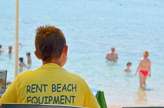Blato, Croatia: Rent beach equipment at Ratak beach.