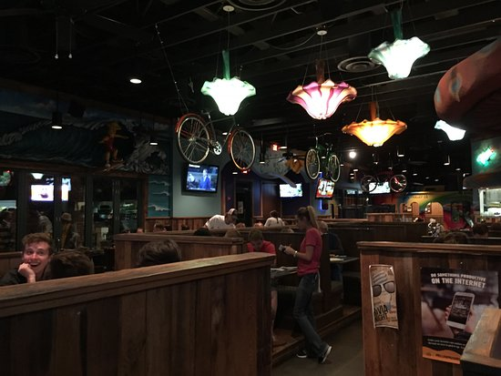Dining space at Mellow Mushroom