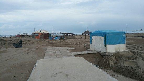Bagni Belvedere: Lo stabilimento durante i lavori di sistemazione