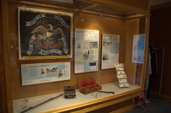 Pleasanton, แคนซัส: Exhibit at Mine Creek Battlefield State Historic Site