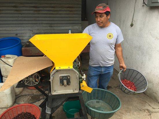 Ciudad Vieja, Guatemala: Removing the husk