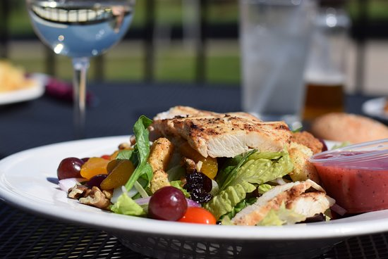 Cadillac, MI: Lunch on the patio overlooking the golf course