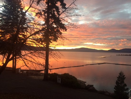 Chester, CA: Sunrise from the cabins