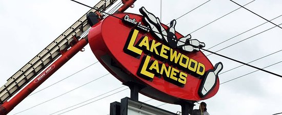Lakewood Lanes Street Sign