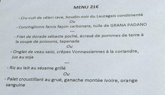 Montferrand, ฝรั่งเศส: idée de menu